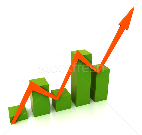 Rood lijn budget tonen verkoop grafiek Stockfoto © stuartmiles
