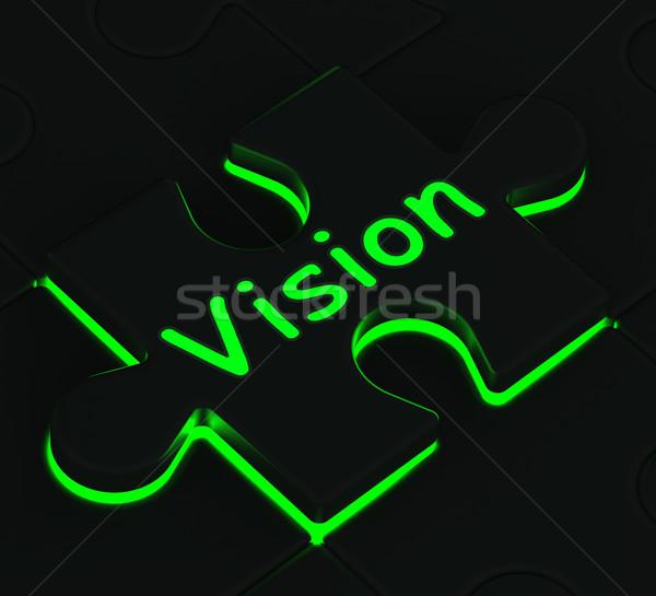 Visione puzzle futuro destino Foto d'archivio © stuartmiles