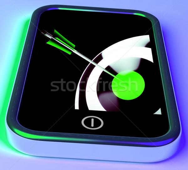 Cel smartphone dokładność precyzyjny internetowych Zdjęcia stock © stuartmiles