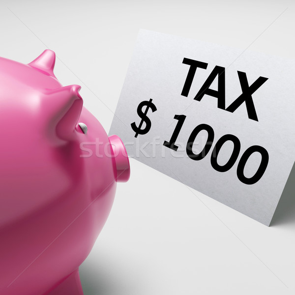 Tax Dollars Shows IRS Taxation Payment Due Stock photo © stuartmiles