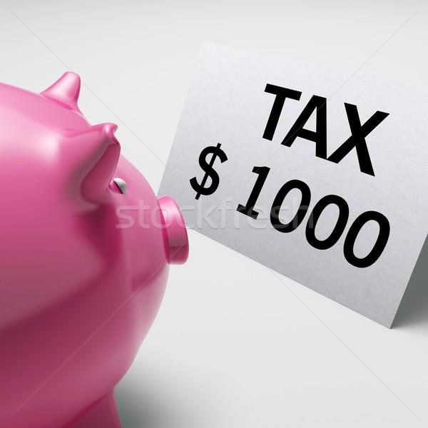 Adó dollár adóhatóság adóügy fizetés mutat Stock fotó © stuartmiles