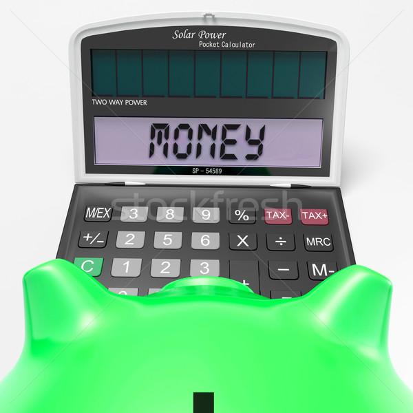 Money Calculator Shows Prosperity Revenue And Cash Stock photo © stuartmiles