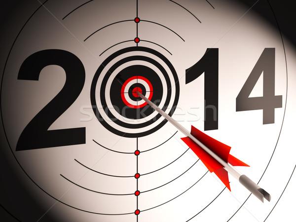 2014 projekcja cel udany przyszłości Zdjęcia stock © stuartmiles