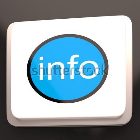 Info Button Showing Customer Service Assistance Stock photo © stuartmiles