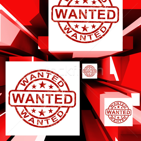 Wanted On Cubes Shows Needed Stock photo © stuartmiles