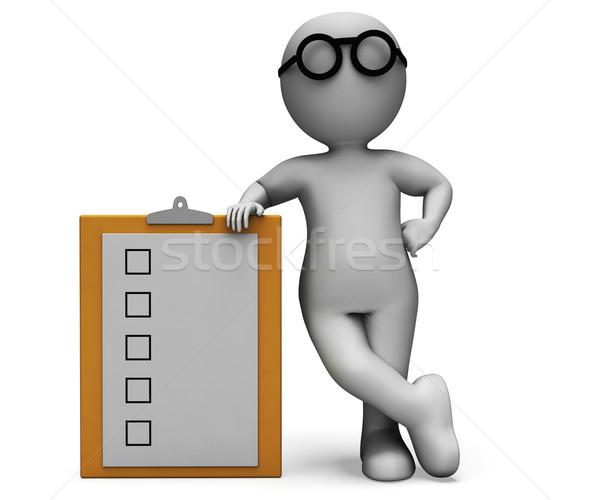 Portapapeles prueba cuestionario para hacer la lista investigación Foto stock © stuartmiles