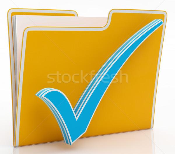 Stockfoto: Bestand · tonen · papierwerk · documenten · informatie · papieren