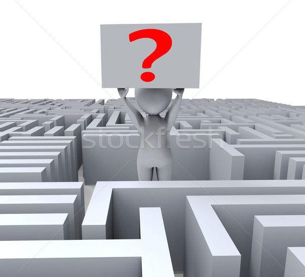 Question In Maze Shows Confusion Stock photo © stuartmiles