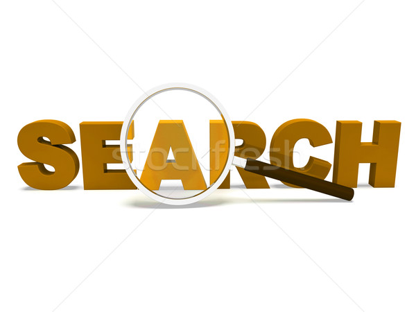 Stock photo: Search Word Shows Web Find And Online Researching