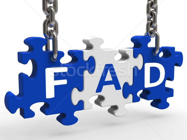 Fad Puzzle Shows Latest Thing Or Craze Stock photo © stuartmiles
