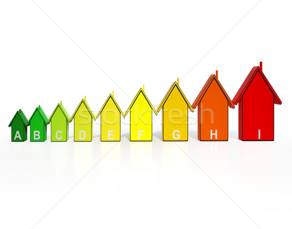 Energy Efficiency Rating Houses Showing Eco Buildings Stock photo © stuartmiles