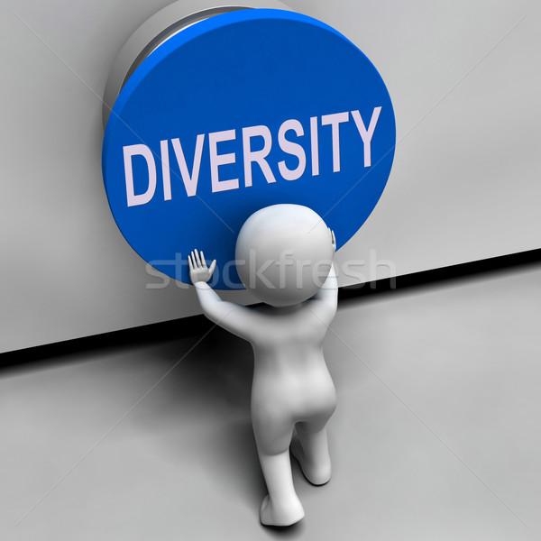 Diverzitás gomb választék különbség multikulturális jelentés Stock fotó © stuartmiles