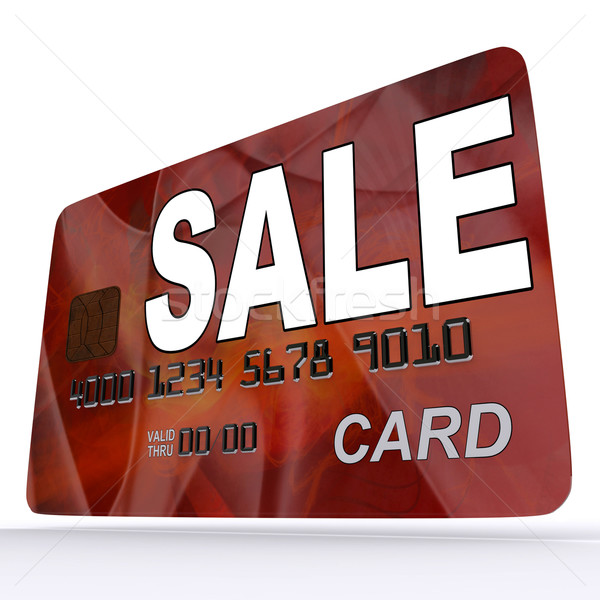 Sale Bank Card Shows Retail Bargains And Discounts Stock photo © stuartmiles