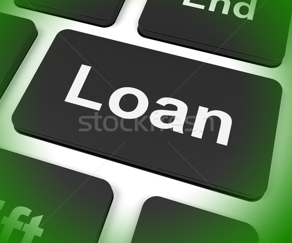 Loan Key Means Lending Or Providing Advance Stock photo © stuartmiles