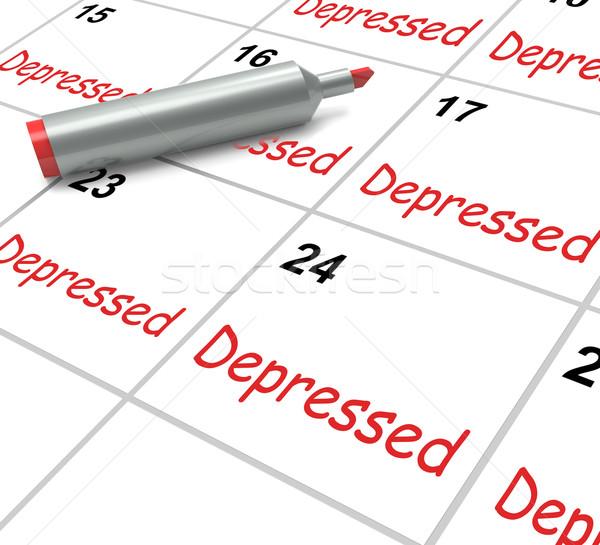 Depressed Calendar Means Discouraged Despondent Or Mentally Ill Stock photo © stuartmiles