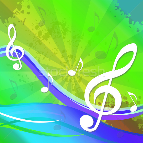 Treble Clef Background Shows Sound And Music Stock photo © stuartmiles