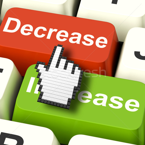 Decrease Reducing Keys Shows Decreasing Or Down Online Stock photo © stuartmiles