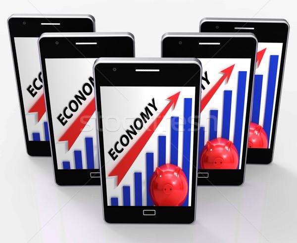 économie graphique internationaux internet Photo stock © stuartmiles