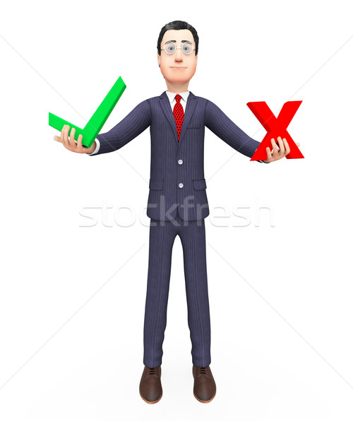 Businessman With Options Indicates Biz Route And Election Stock photo © stuartmiles