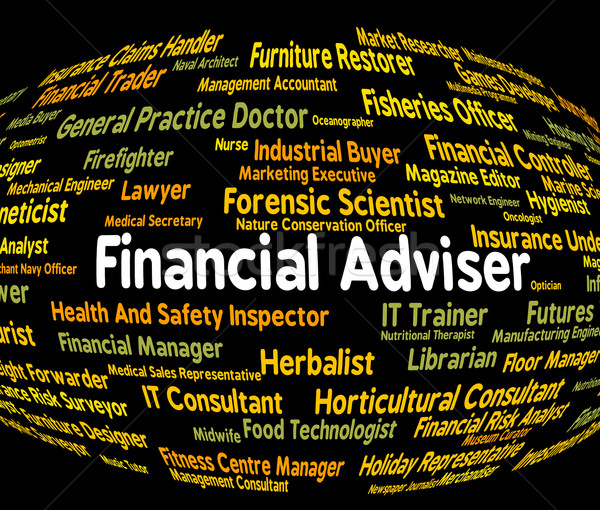Financial Adviser Means Trading Job And Accounting Stock photo © stuartmiles