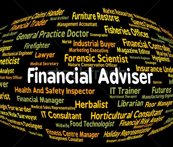 Financieros asesor comercio Trabajo contabilidad Foto stock © stuartmiles
