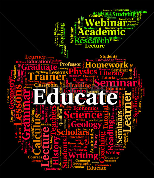 Educate Word Means Develop Studying And Schooling Stock photo © stuartmiles