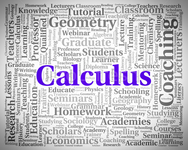 Calculus Word Indicates Algebra Figures And Words Stock photo © stuartmiles