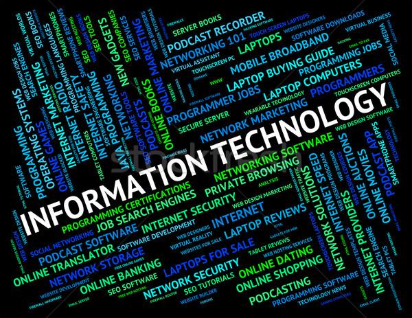 Tecnología de la información ordenador informática www digital Foto stock © stuartmiles
