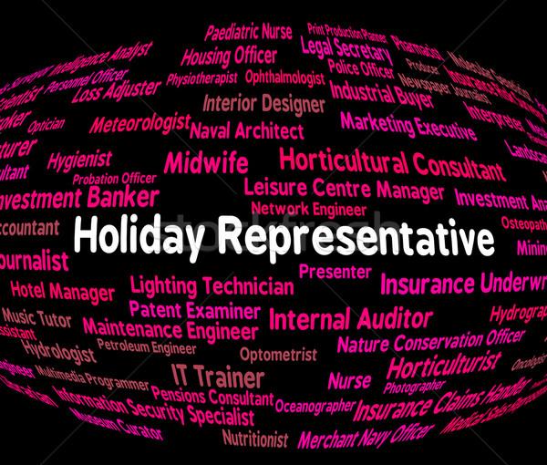 Vakantie vertegenwoordiger carriere werk baan Stockfoto © stuartmiles