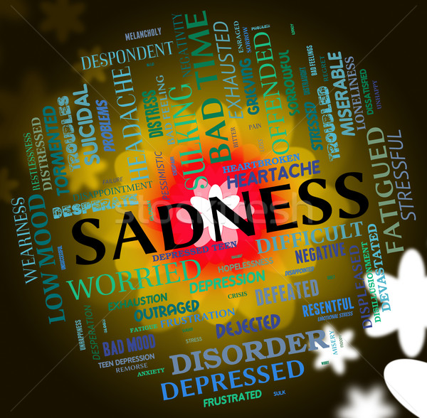 Sadness Word Indicates Broken Hearted And Depressed Stock photo © stuartmiles