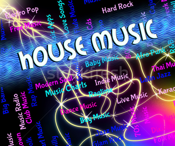 House Music Represents Sound Tracks And Acoustic Stock photo © stuartmiles