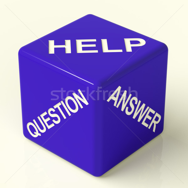 Question Answer And Help Dice As Symbol For Information Stock photo © stuartmiles