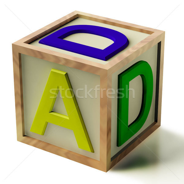 Kids Block Spelling Dad As Symbol for Fatherhood And Parenting Stock photo © stuartmiles