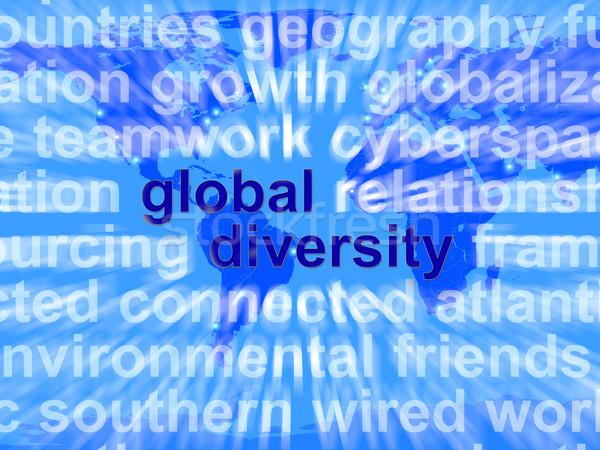 Stok fotoğraf: Global · çeşitlilik · sözler · etnik