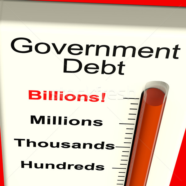Government Debt Meter Showing Nation Owing Billions Stock photo © stuartmiles