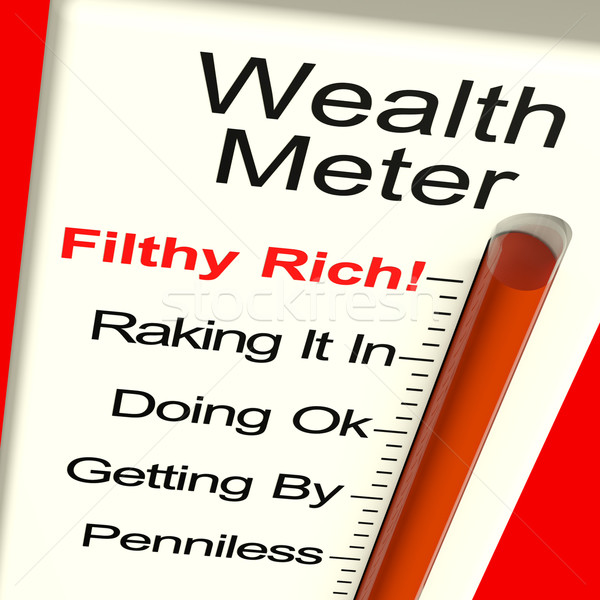 Wealth Meter Showing Money And Being Rich Stock photo © stuartmiles