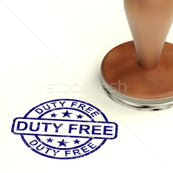 Duty Free Stamp Showing No Tax Shopping Stock photo © stuartmiles