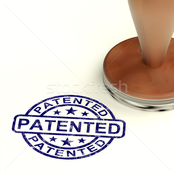 Patented Stamp Showing Registered Patent Or Trademarks Stock photo © stuartmiles