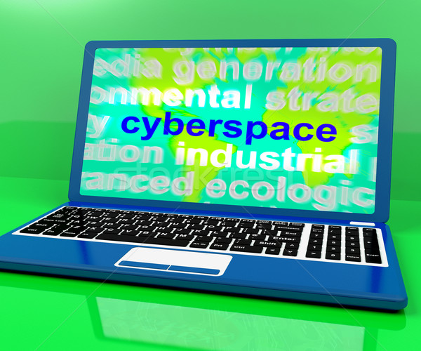 Cyberspace Definition On Laptop Shows Internet Stock photo © stuartmiles
