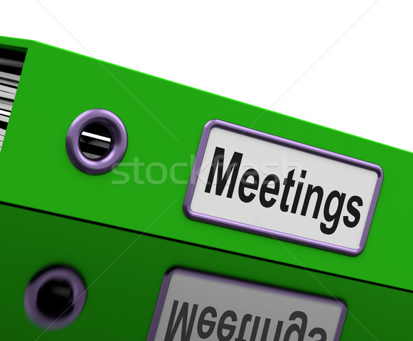 Meetings File To Show Minutes Of Company Discussion Stock photo © stuartmiles