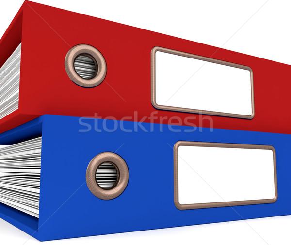 Twee bestanden georganiseerd kantoor papier Stockfoto © stuartmiles