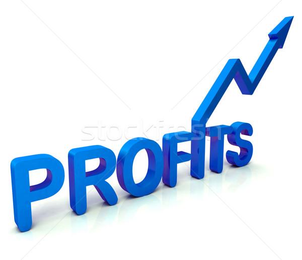 Azul beneficio palabra ingresos negocios Foto stock © stuartmiles