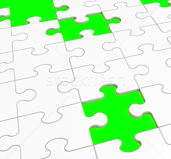 Unfinished Puzzle Showing Lost Pieces Stock photo © stuartmiles