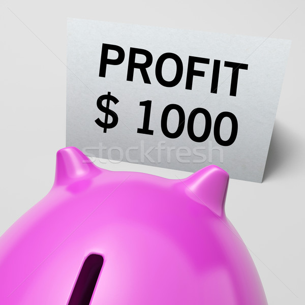 One Thousand dollars, usd Profit Shows Wealthy Earnings Stock photo © stuartmiles