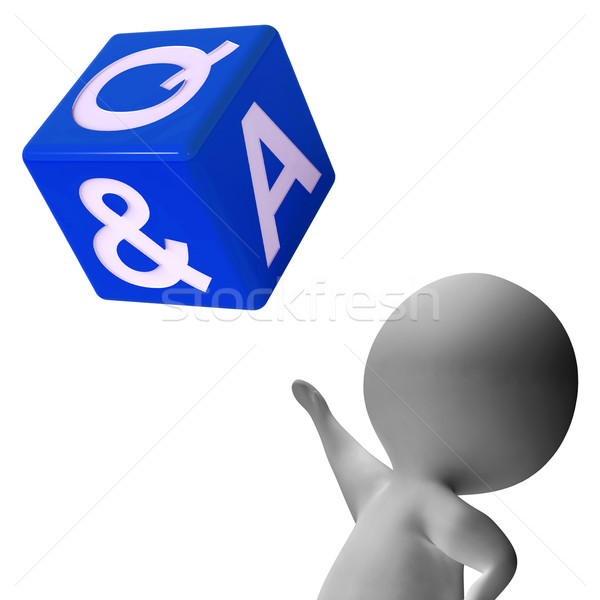 Question Answer Dice Showing Help And Assistance Stock photo © stuartmiles