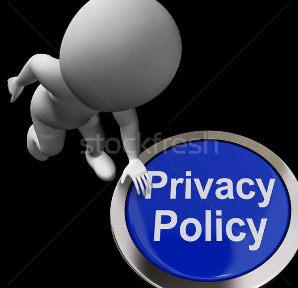 Privacy Policy Button Shows The Company Data Protection Terms Stock photo © stuartmiles