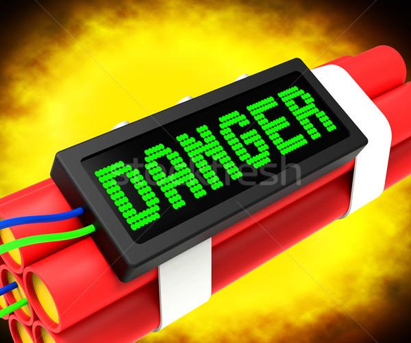 Niebezpieczeństwo dynamit podpisania znaczenie ostrożność niebezpieczny Zdjęcia stock © stuartmiles