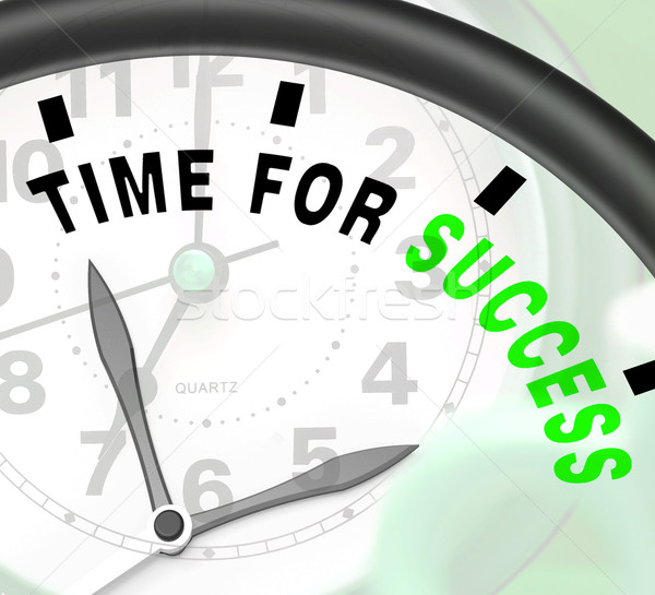 Time For Success Message Shows Victory And Winning Stock photo © stuartmiles