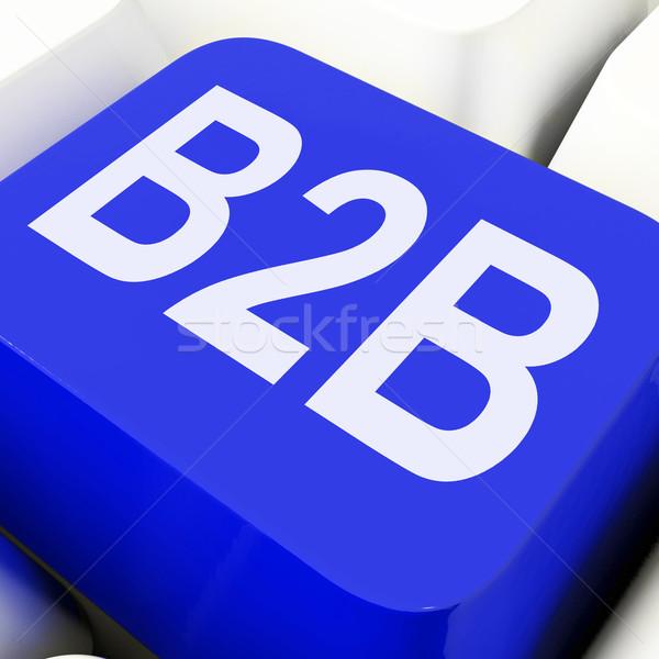 B2b chave negócio comércio comércio teclado Foto stock © stuartmiles