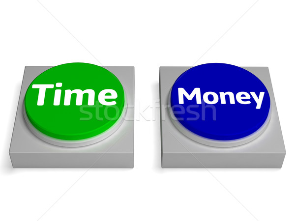 Time Money Buttons Shows Finances Or Leisure Stock photo © stuartmiles